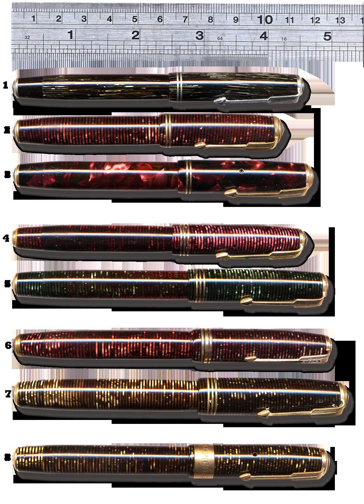 Parker Pens Penography Golden Arrow Vacuum Filler Vacumatic