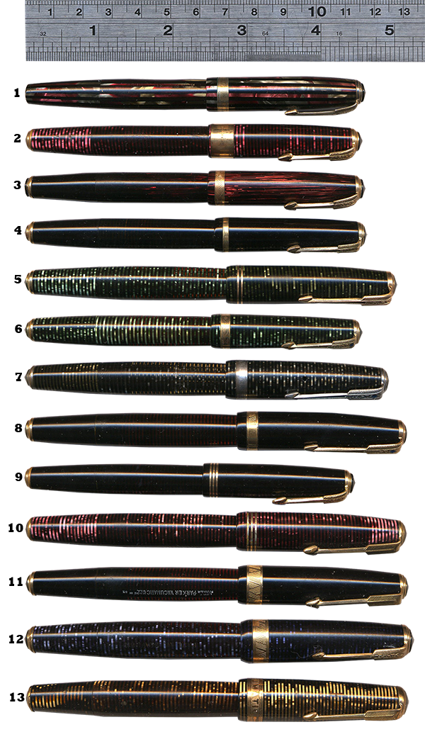 parker vacumatic comparison