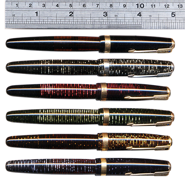 parker vacumatic third generation colors