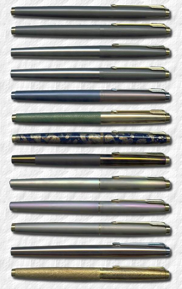 Secretary Vecter Stainless Steel Matte Black or Silver Pen blue /& black ink